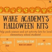 Wake Academy's Halloween Kits: Packing Event
