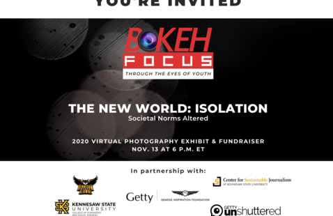 Bokeh Focus Photography Exhibit Invite