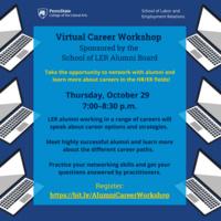 Virtual Career Workshop Sponsored by the LER Alumni Board