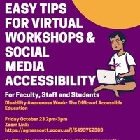 Easy tips for Virtual Workshop and Social Media Accessibility