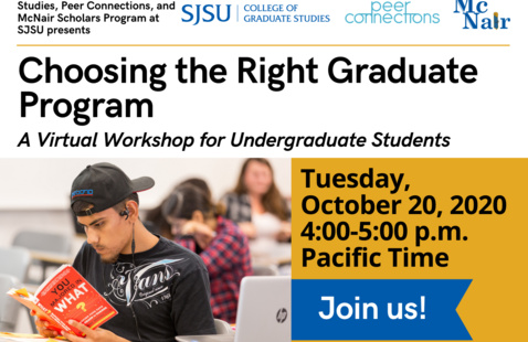Choosing the Right Graduate Program Workshop Flyer