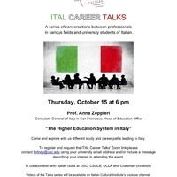 ITAL Career Talks - The Higher Education System in Italy