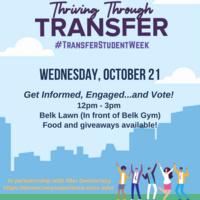 National Transfer Student Week: Get Informed, Engaged ... then Vote!
