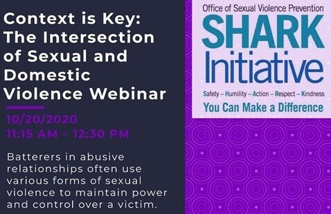 Domestic Violence Awareness Month: 	Context is Key: The Intersection of Sexual and Domestic Violence Workshop