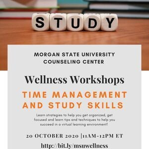 Wellness Workshops - Time Management and Study Skills
