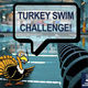 turkey with snorkle with the background of the pool
