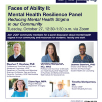 Faces of Ability II: Mental Health Resilience Panel
