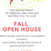 Fall Open House - French: Monday, October 19, 2020 3:00 p.m. - 4:30 p.m. PDT