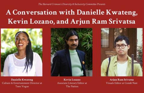 A Conversation with Journalists Danielle Kwateng, Kevin Lozano, and Arjun Ram Srivatsa