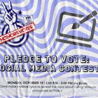 PLEDGE TO VOTE: Social Media Contest