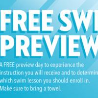 Aquatics - Free Swim Preview
