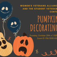 Pumpkin Decorating with the FSU Women's Veterans Alliance and the Student Veterans Center