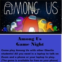 flyer for Among Us game.