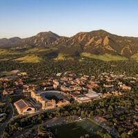 recent aerial photo of campus