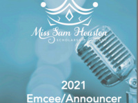 Miss Sam Houston Pageant 2021 Emcee/Announcer Applications Available