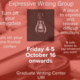 Expressive Writing Group Friday 4-5 October 16 onwards Graduate Writing Center URI