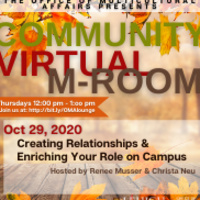 Virtual M-Room: Creating Relationships & Enriching Your Role on Campus  | Multicultural Affairs