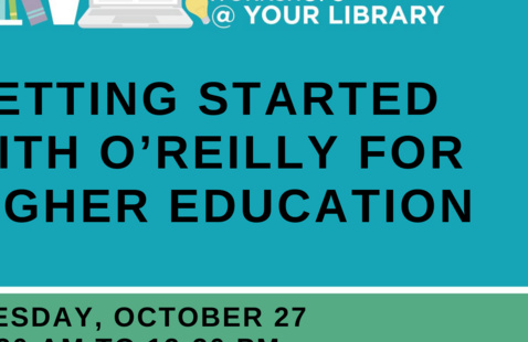 Online Workshop @ Your Library: Getting Started with O'Reilly for Higher Education
