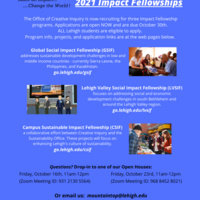 Creative Inquiry Impact Fellowship Applications-Now Open
