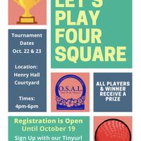 Four Square Tournament Registration!