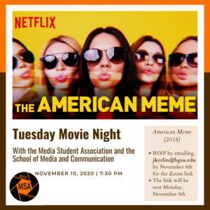 Media Student Association Movie Night