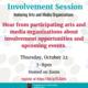 Involvement Session: Arts & Media