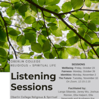 Listening Session: Office of Religious and Spiritual Life