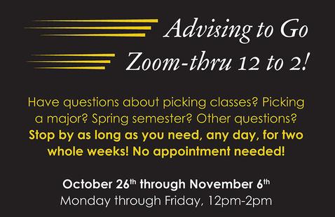 Zoom-Thru Advising to Go!