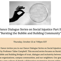 Dance Dialogue Series on Social Injustice Part II