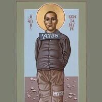Icon illustration of Ben Salmon by Fr. Bill McNichols (www.FrBillMcNichols-SacredImages.com)