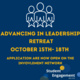 Advancing in Leadership Retreat Poster