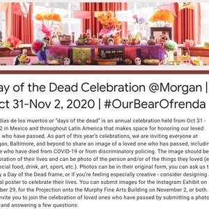 Day of the Dead Celebration @ Morgan | Submit Photos by Oct 25