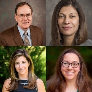 SOE Educational Technology Faculty (left to right): Fred Hofstetter, Chrystalla Mouza, Rachel Karchmer-Klein, and Teomara Rutherford.