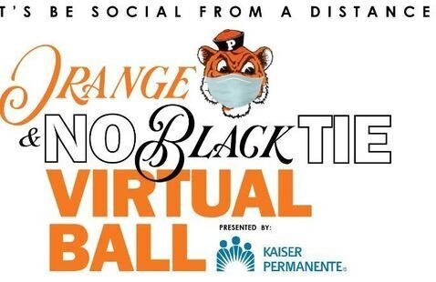 Orange & No Black Tie Virtual Ball