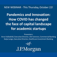 Pandemics and Innovation: How COVID has changed the face of capital landscape for academic startups/spin-offs