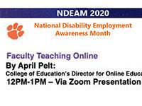 Faculty Teaching Online