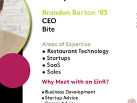 Entrepreneur in Residence: Brandon Barton '03, Chief Executive Officer, Bite
