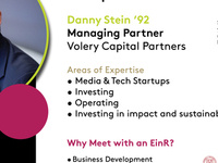 Entrepreneurs in Residence: Danny Stein '92, Managing Partner, Volery Capital Partners