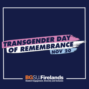 Transgender Day of Remembrance Display