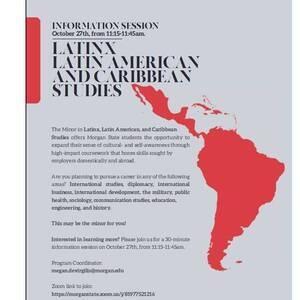 Latinx, Latin American and Caribbean Studies Information  Session