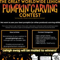 The Great Worldwide Lehigh Pumpkin* Carving Contest | Lehigh After Dark