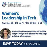 CSML Speaker Series: Women's Leadership in Tech