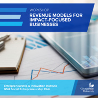 Workshop on Revenue Models for Impact-Focused Businesses