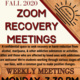Zoom Recovery Meetings