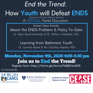 End the Trend: How Youth will Defeat ENDS Virtual Panel Flyer