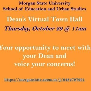 SEUS Dean's Virtual Town Hall, October 29 @ 11:00am