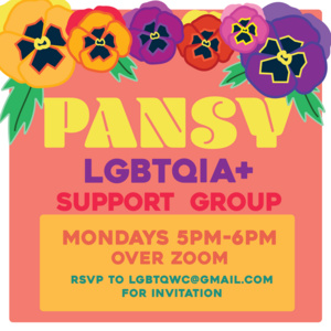 Event: PANSY LGBTQIA+ Social Support Group