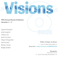MFA Review Exhibition - Visions 2020