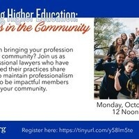 Professional Development Series- Navigating Higher Education (Law)