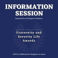 Fraternity and Sorority Life Awards Information Session